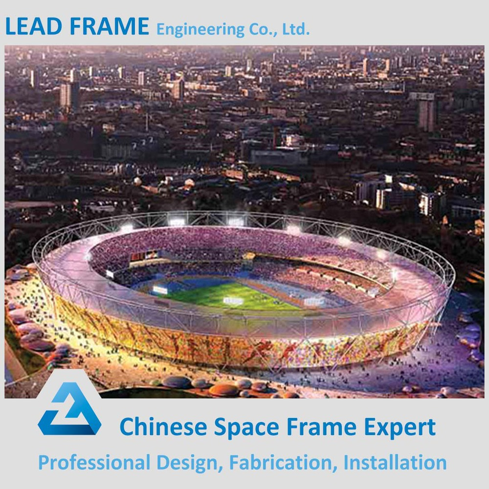 prefab space frame lightweight arch steel building for sports hall