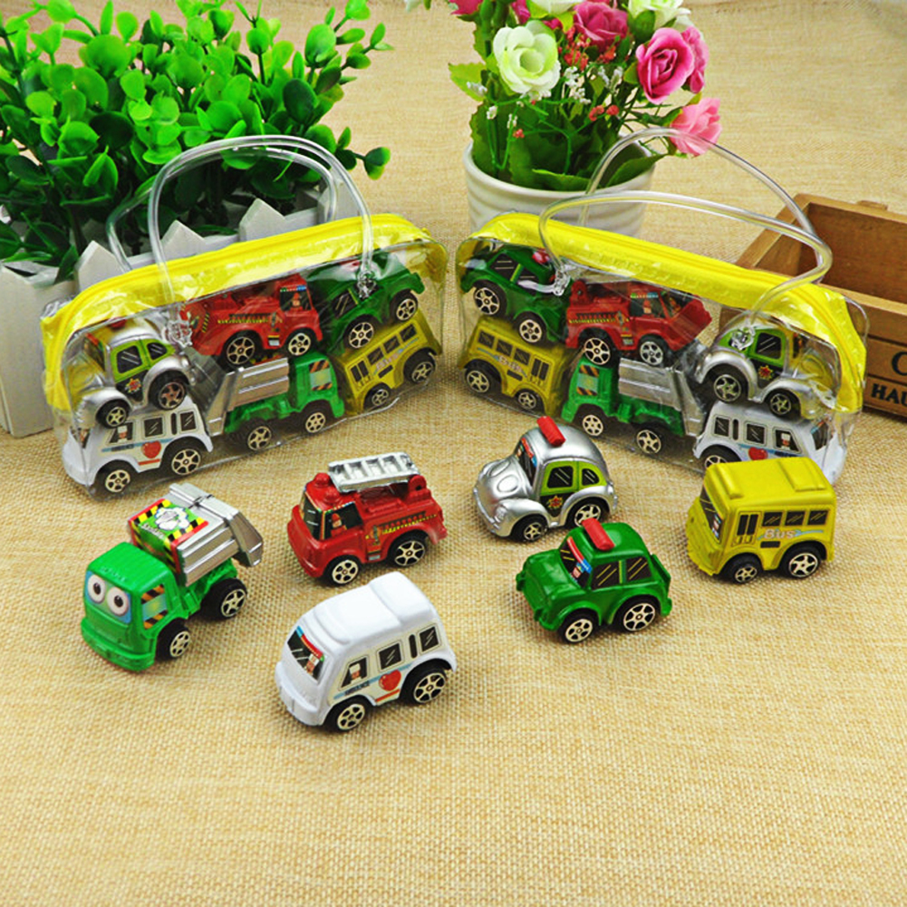 6pcs/lot Pull Back Car Toys Car Children Racing Car Baby