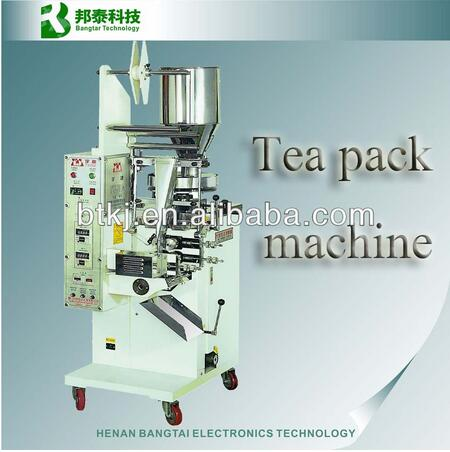 New Style 3 sides sealing Economic Type Automatic Single Chamber tea bag packing machine small