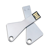 Metal sliver key USB flash drive USB stick 8gb USB pen flash Disk cheap bulk wholesale