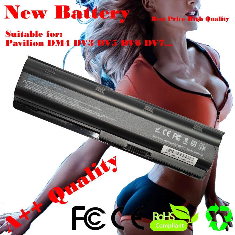 Новая батарея для HP Compaq Presario CQ42 CQ32 G42 G62 G72 для павильон DV3 DM4 DV5 DV6 DV7 G4 G6 G7 MU06 593553-001