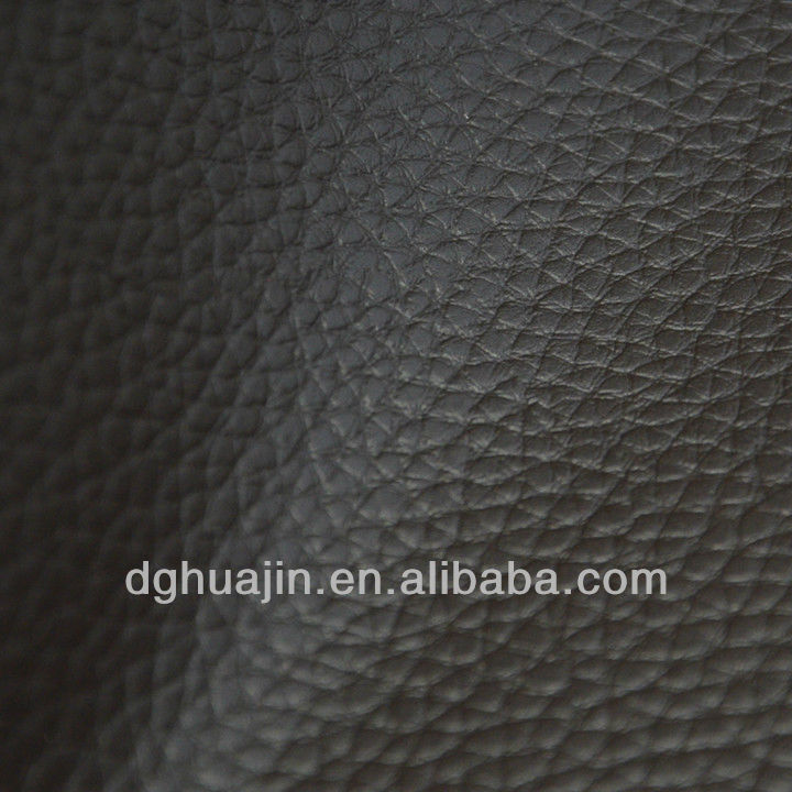 Black PVC Leather for Sofa