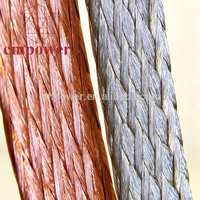 Silver plated copper braid cable flat tinned braided grounding wire