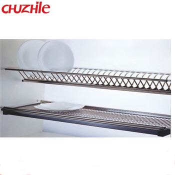 Kitchen Cabinet Plate Rack Organizer Stainless Steel Dish Rack  sc 1 st  Alibaba : in cupboard plate rack - pezcame.com