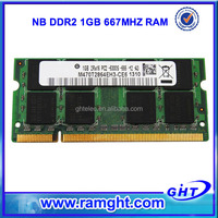 Low density Cheap price Laptop 1gb ddr2 computed memory accept paypal