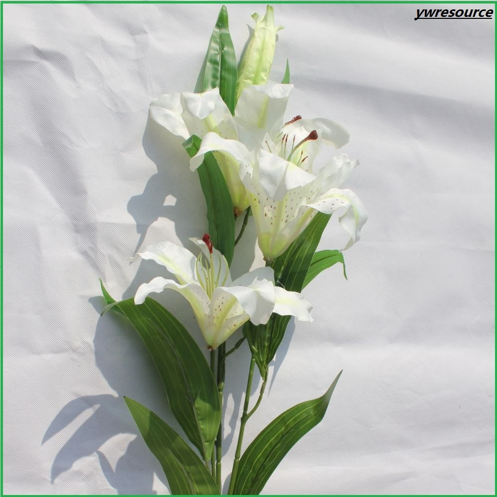 White Silk Artificial Flower Calla Lily for fairytale wedding decorations
