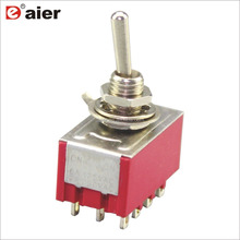 6A 125 V 6 MM 4PDT ON-ON 2 Position <span class=keywords><strong>Kippschalter</strong></span> <span class=keywords><strong>MTS</strong></span> 402 12Pin