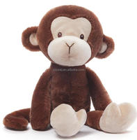 cute stuffed plush monkey toys manufacturer Zoo Stuffed Monkey Sitting Brown Monkeys Plush Toy For Kids custom stuffed peluche