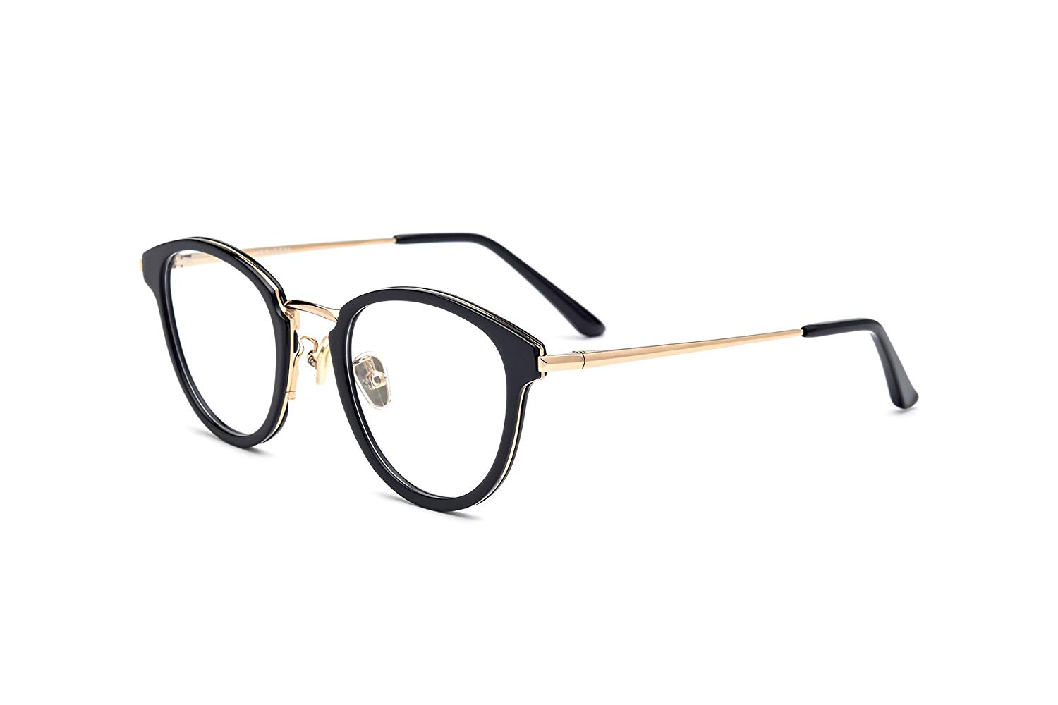 df85bc8294d Get Quotations · HEPIDEM Acetate Round Optical Glasses Frame Prescription  Myopia Spectacles 70043