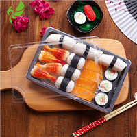 High Grade New design plastic disposable Blister sushi container party tray