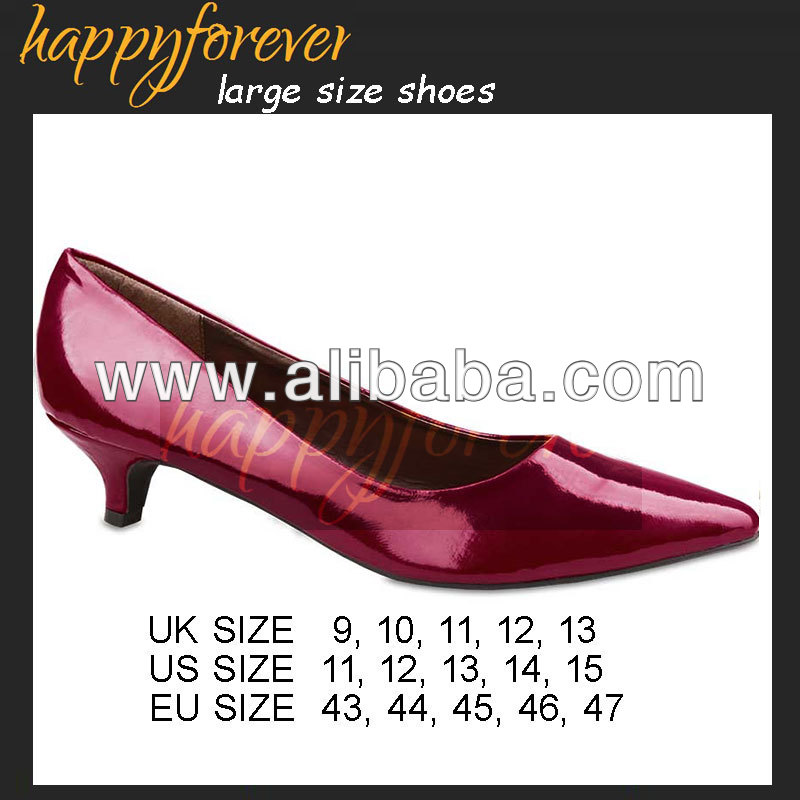 Low Kitten Heel Shoes - Large Size Women Shoes (US11, 12, 13, 14, 15, UK9, 10, 11, 12, 13 EU 43, 44, 45, 46, 47) (063-1)