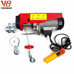 Mini Hoist PA1000 1000kg 1 ton Electric Wire Rope Hoist with trolley on