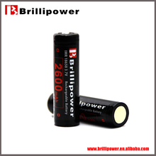 Brillipower lithium iron phosphate battery 18650 rechargeable battery
