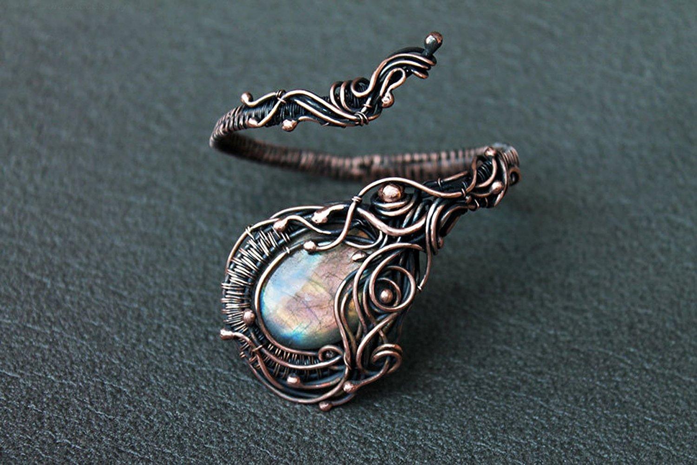 Buy Handmade Copper Bracelet Labradorite Beads Women Jewelry