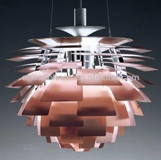 Artichoke Lamp Modern Retro Ceiling Light Suspension Pendant White Red Fancy Led Product On
