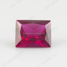 Alibaba hot sale cheap rectangle cut ruby natural synthetic corundum rough price