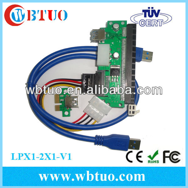 Mini PCIE to PCIE 1X to 16X Extension Cable Pci-e extender cable