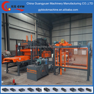 fully automatic ecological press building concrete interlocking block forming machine