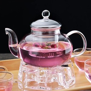HOT SALES hand made heat resistant borosilicate glass teapot glass tea set glass pot
