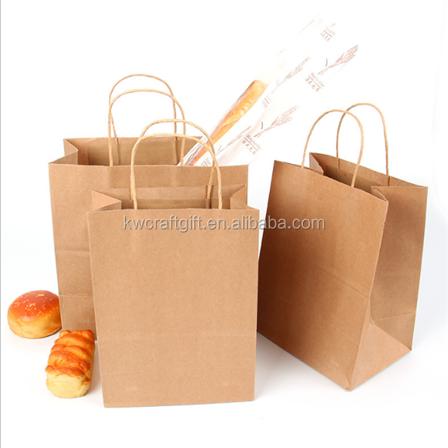 Takeaway fast food snack kraft paper bag
