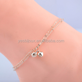steel terse bracelets plated link store anklet paved bracelet charm gold rose stainless ankle chain crystal product leg