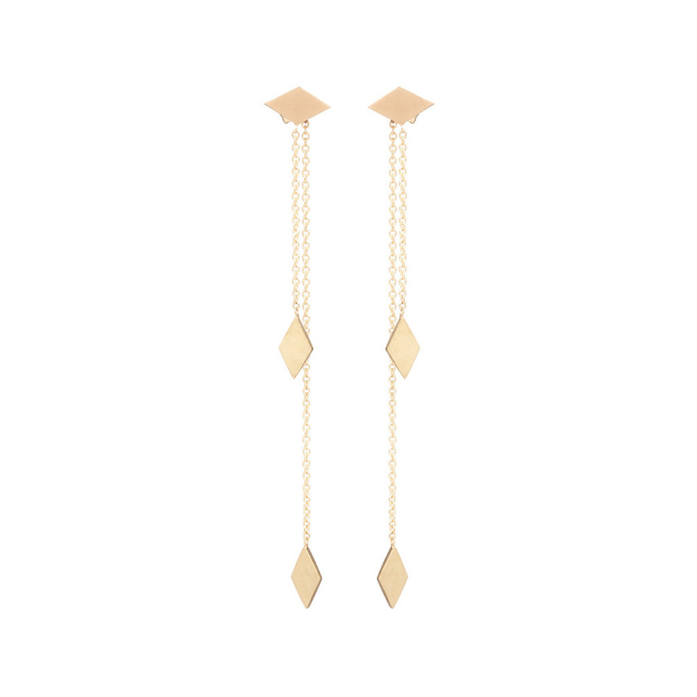 Gold Tone Extra Long Chain Earrings Beautiful Earring Designs For Women