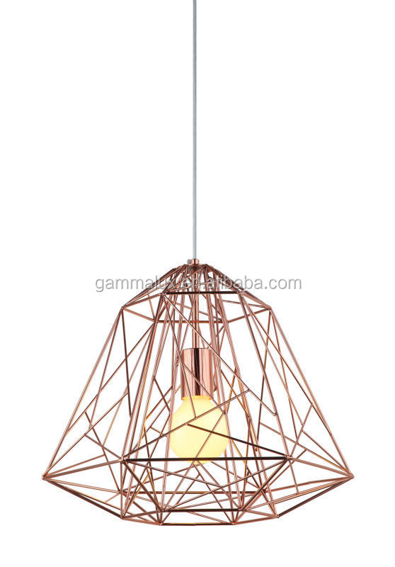 new design e27 wire diamond pendant lighting bird cage