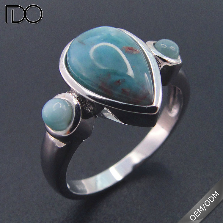 High quality promotion larimar wedding ring designs