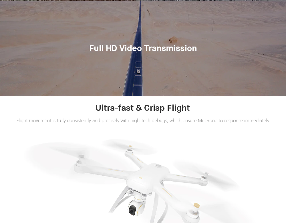 Chinese version Original Xiao mi Mi Drone 4K Drone WIFI FPV Quadcopter With 4K Version 30fps HD Camera 3-Axis Gimbal GPS App RC