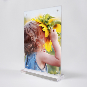 Acrylic magnetic label memo sign holder photo pictures frames pop display stand