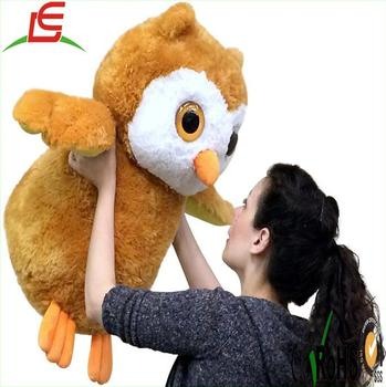 2 Feet Tall Large Stuffed Owl 26 Inches Tall Soft Big Plush Animal