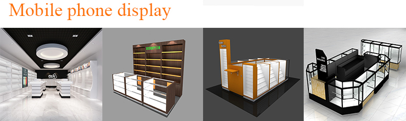 Attractive jewellery display kiosk and watch display kiosk for mall   hot sell jewelry counter