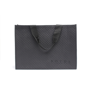 Custom color eco friendly recyclable fashion laser laminated embossed non woven shopping bag
