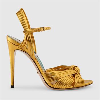 Luxury Sandal Dress Shoes Metallic Sexy