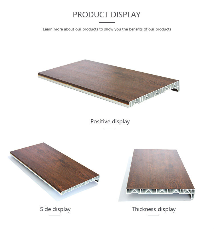 10cm 15cm wide waterproof PVC wood window sill  board material