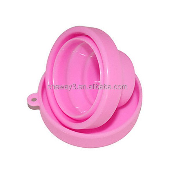 big size FOLDING silicone rubber CUP