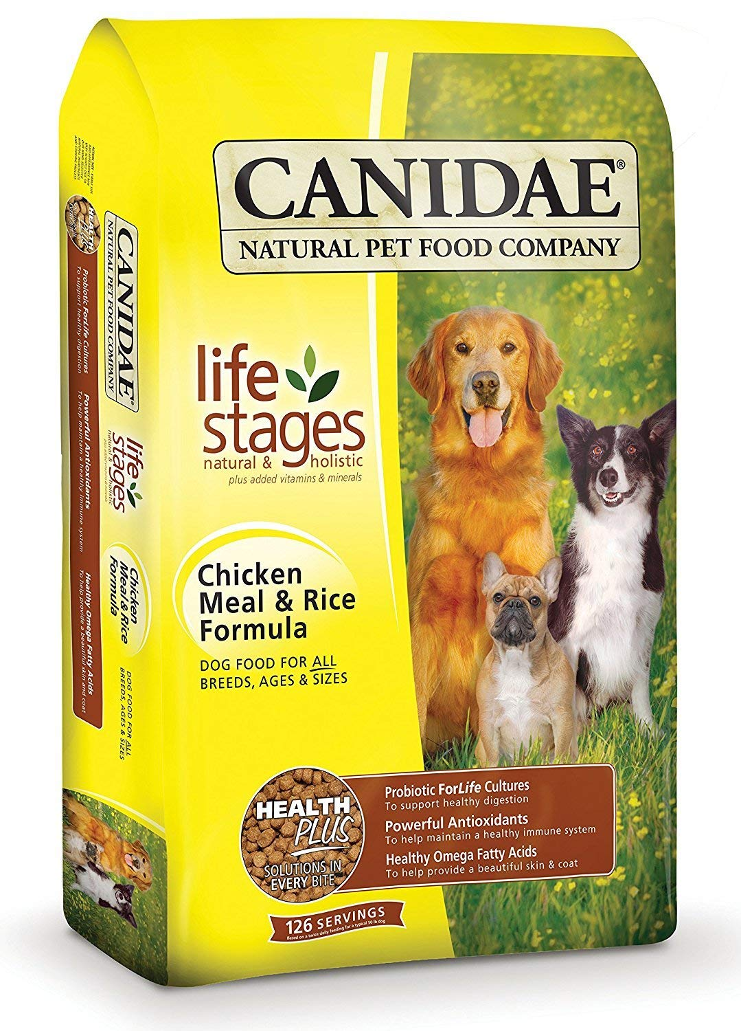 CANIDAELife Stages Dry Dog Food for Puppies, Adults & Seniors, Chicken Meal & Rice vyiJax,2 Pack (5 Pound)