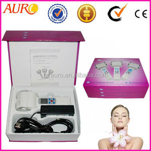 Au-017 skin cooling and heating skin cooling hot/cold hammer facial ultrasound device
