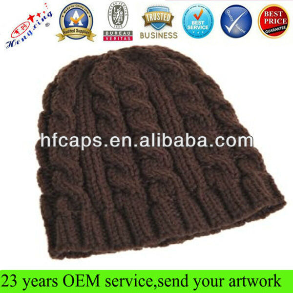 Sports knitted benies hat acrylic custom knitted beanie hat