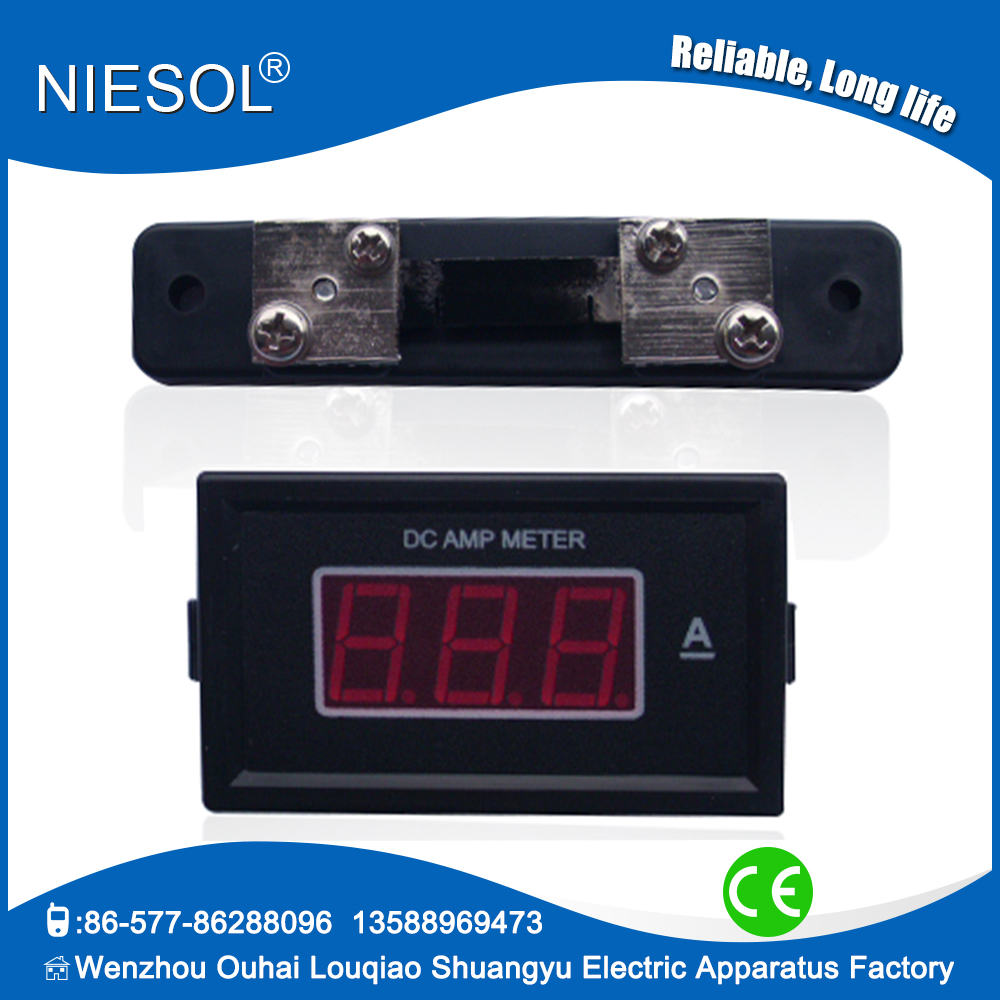 85 series digital 0 50a dc amp meter ampere meter led. Black Bedroom Furniture Sets. Home Design Ideas