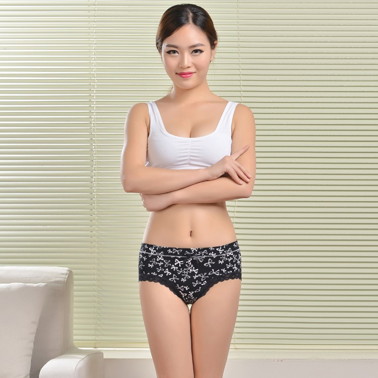 colorful printing mature women underwear sex ladies wearing lingerie