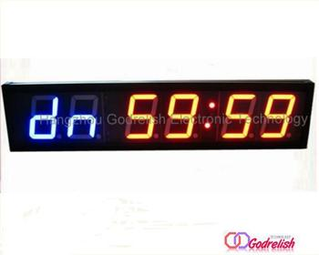 "Godrelish Crossfit 4"" LED Interval Timer Display Gym Wall Stopwatch Countdown/up"