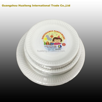 6 Inch Disposable White Dinner Paper Plates Wholesale New Arrival ...