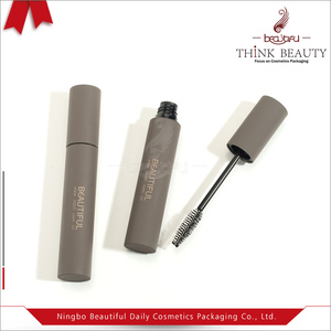 0.38oz/11ml empty painted mascara make up packaging/tube/bottle/container in soft touch gray finish