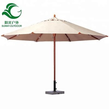Outdoor Indonesia Wooden Patio Umbrella