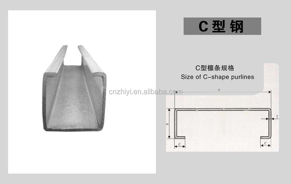 Galvanized Steel C Profile / Z Channel / C-purlin / Z Purlin Design - Buy C  Profile,C-purlin,Z Channel Product on Alibaba com