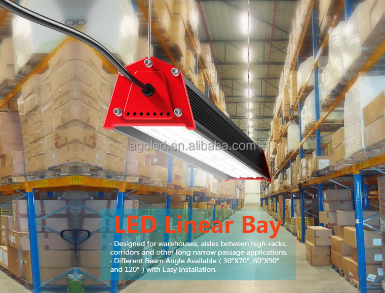 Industrial And Commercial 150w Led Linear Bay Light 5 Years ...