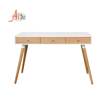 Latest office furniture laptop table designs modern low price computer desk wooden study table with 3 drawer