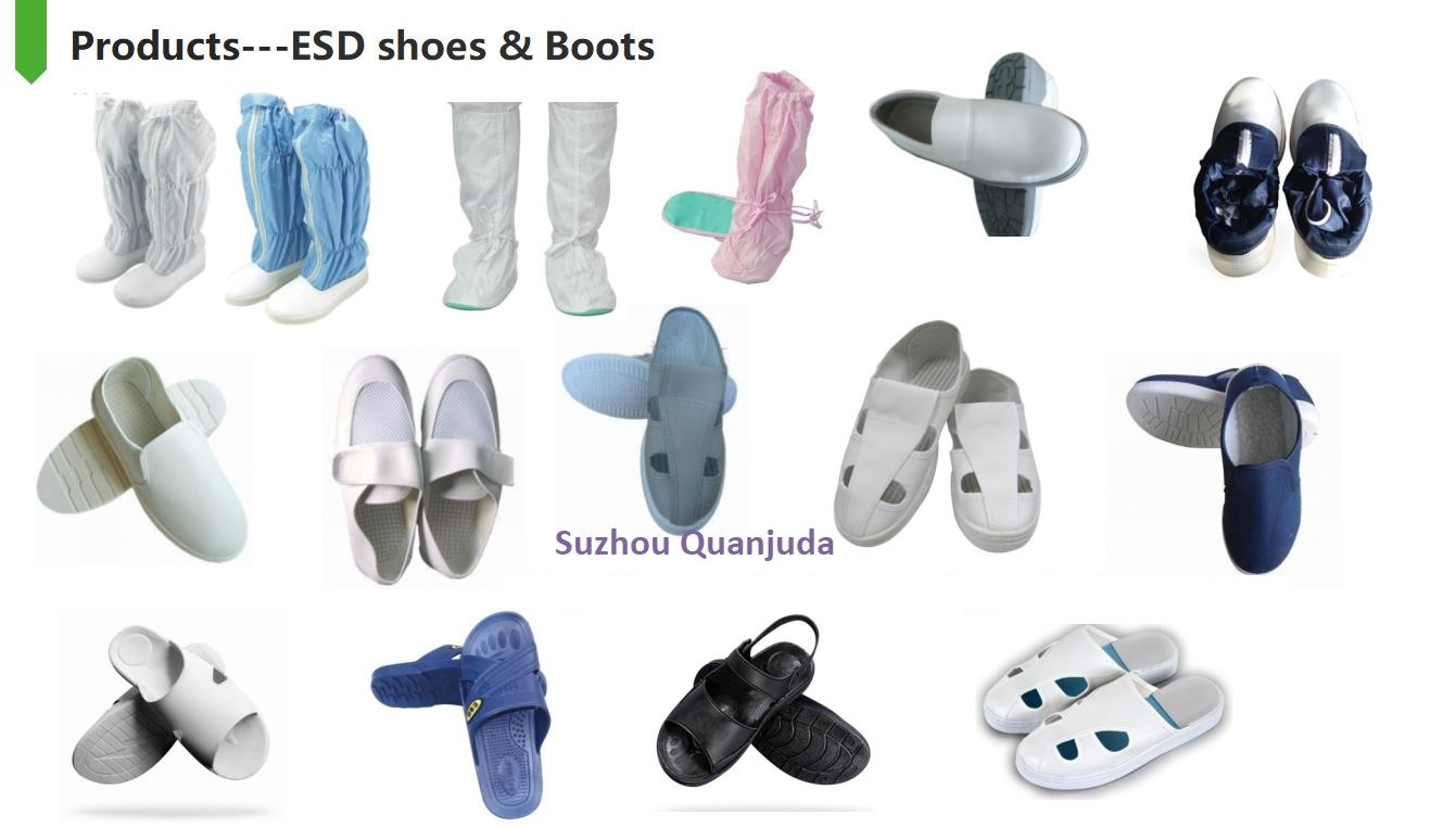 Antistatic ESD Safe Cleanroom Boots Booties with PU Sole