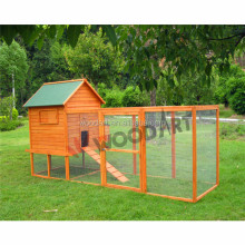Wooden Chicken Coop With Big Run,Solid Wood,FSC